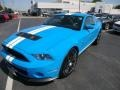 2011 Grabber Blue Ford Mustang Shelby GT500 SVT Performance Package Coupe  photo #2