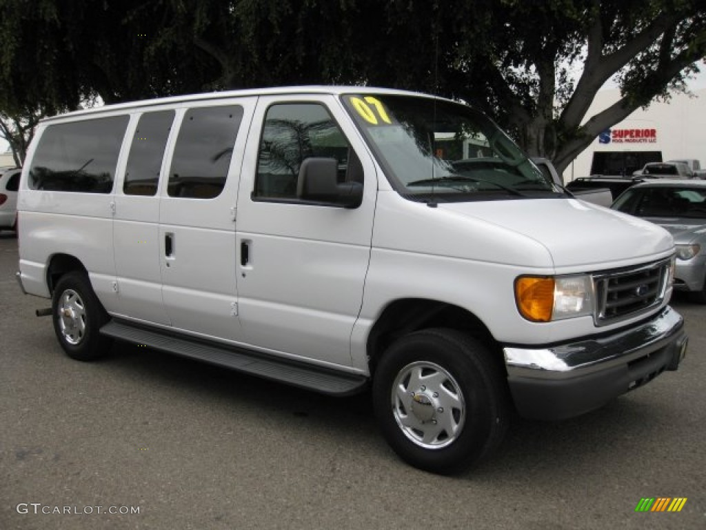 2007 oxford white ford e series van e150 passenger. Black Bedroom Furniture Sets. Home Design Ideas