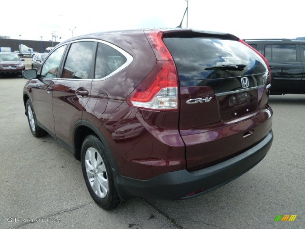 2012 CR-V EX 4WD - Basque Red Pearl II / Gray photo #3