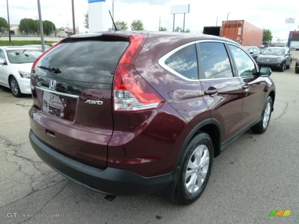 2012 CR-V EX 4WD - Basque Red Pearl II / Gray photo #5