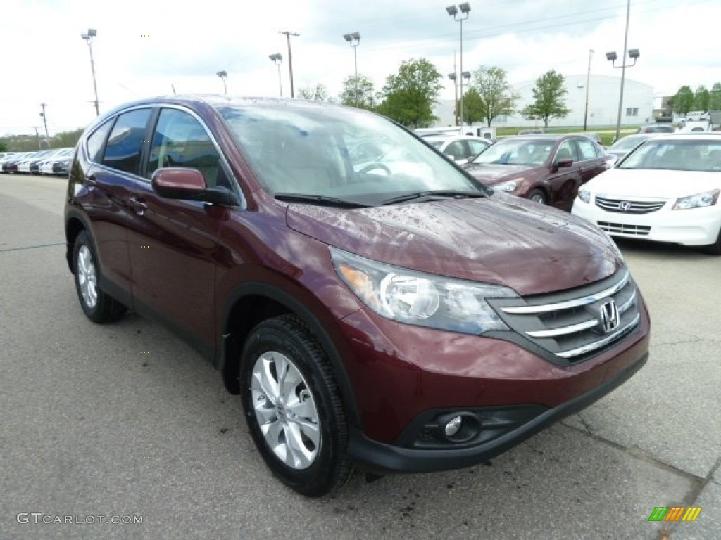 2012 CR-V EX 4WD - Basque Red Pearl II / Gray photo #7