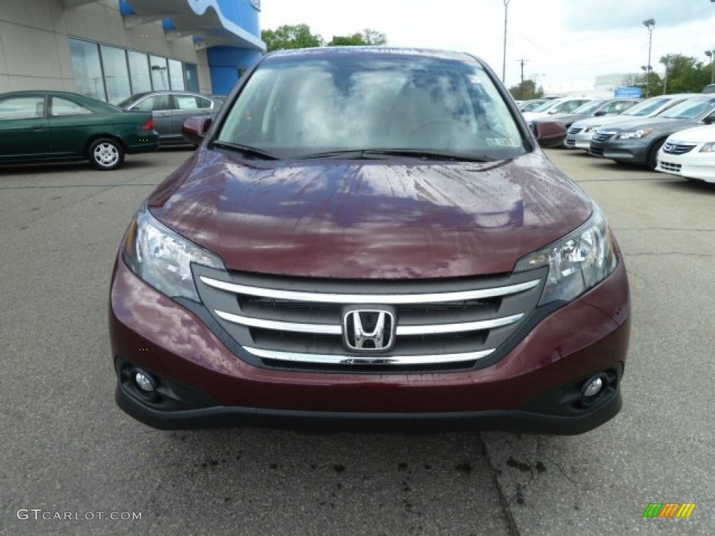 2012 CR-V EX 4WD - Basque Red Pearl II / Gray photo #8