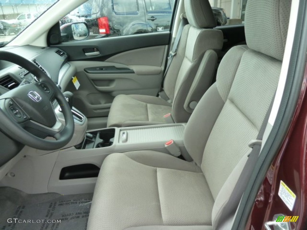 2012 CR-V EX 4WD - Basque Red Pearl II / Gray photo #10