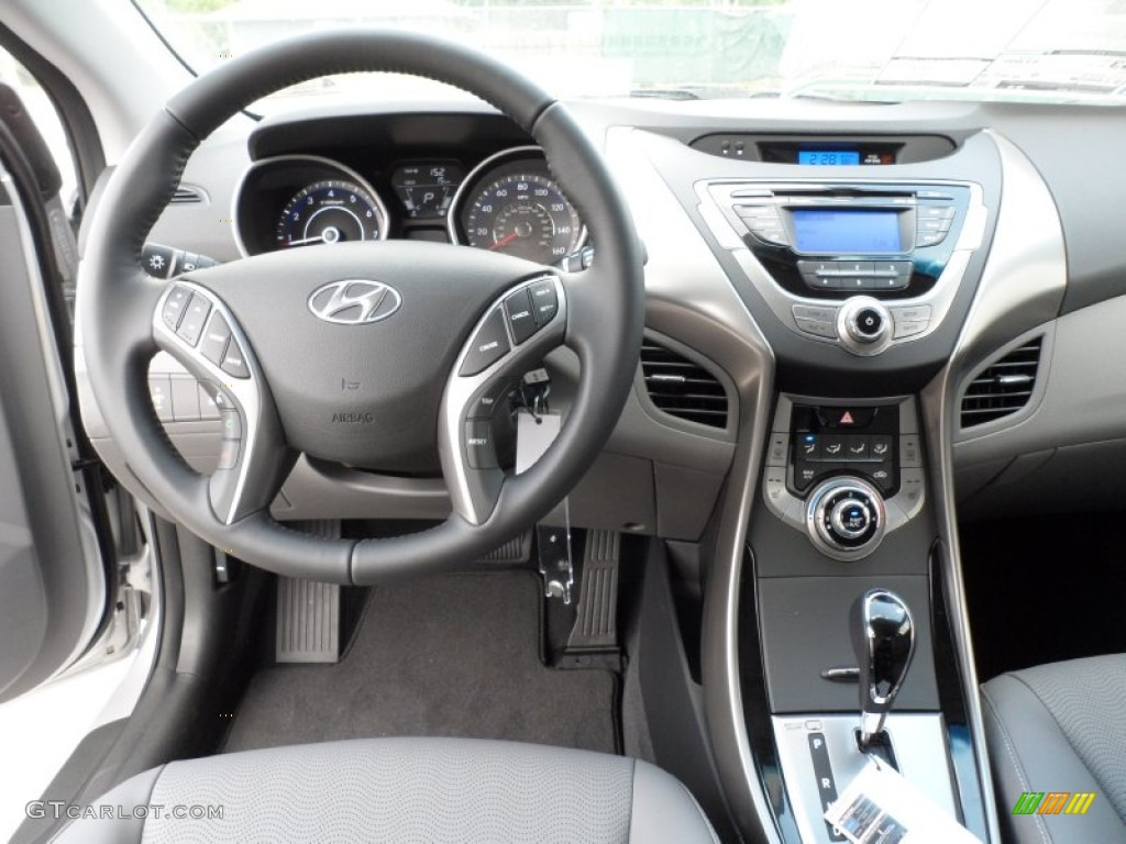 2013 Hyundai Elantra Limited Gray Dashboard Photo #64650517