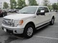 White Platinum Metallic Tri Coat - F150 Lariat SuperCrew 4x4 Photo No. 3