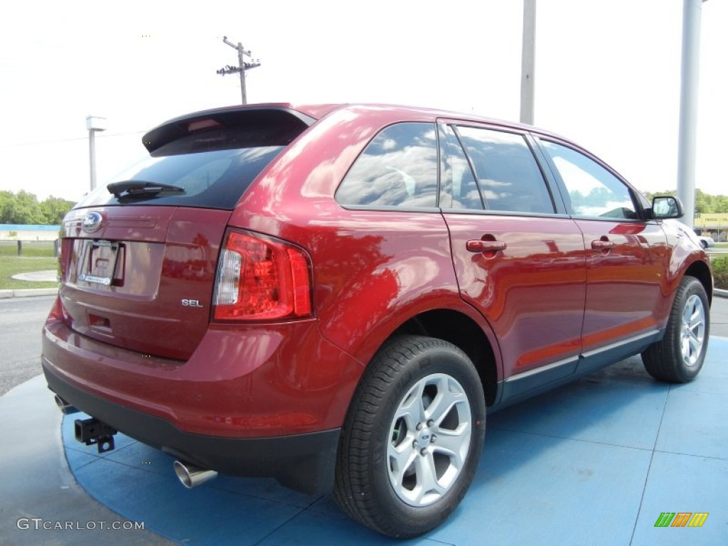 Ruby Red 2013 Ford Edge Sel Exterior Photo 64675166