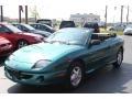 Medium Green Blue Metallic 1999 Pontiac Sunfire GT Convertible