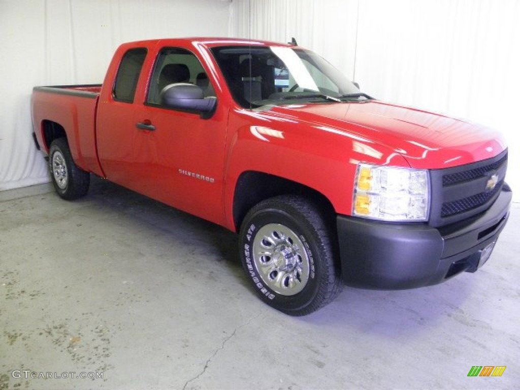 2009 Silverado 1500 Extended Cab - Victory Red / Dark Titanium photo #1
