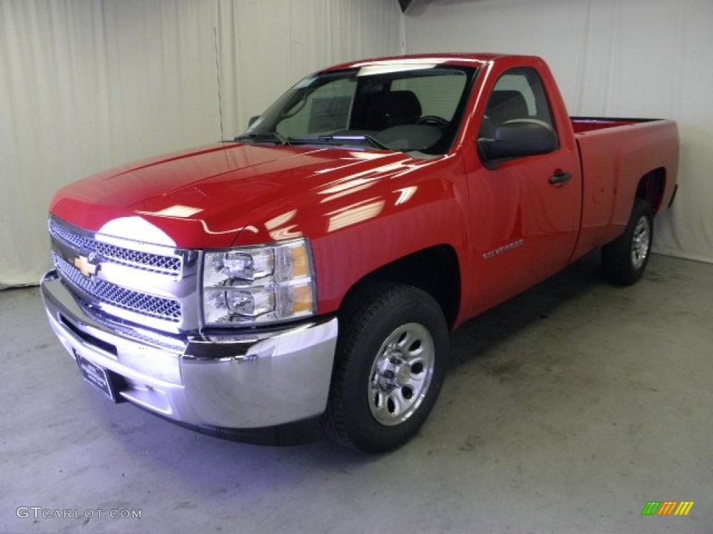 2012 Silverado 1500 LS Regular Cab - Victory Red / Dark Titanium photo #3