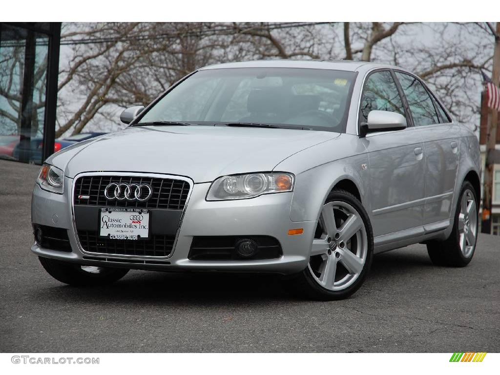 2008 Light Silver Metallic Audi A4 3 2 Quattro S Line Sedan 6466465 Gtcarlot Com Car Color