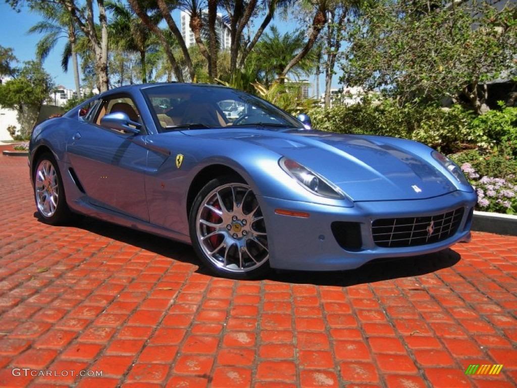 Blue california ferrari 599 gtb fiorano