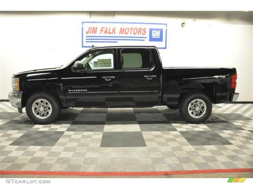 2012 Silverado 1500 LS Crew Cab 4x4 - Black / Dark Titanium photo #1