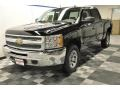 2012 Black Chevrolet Silverado 1500 LS Crew Cab 4x4  photo #16