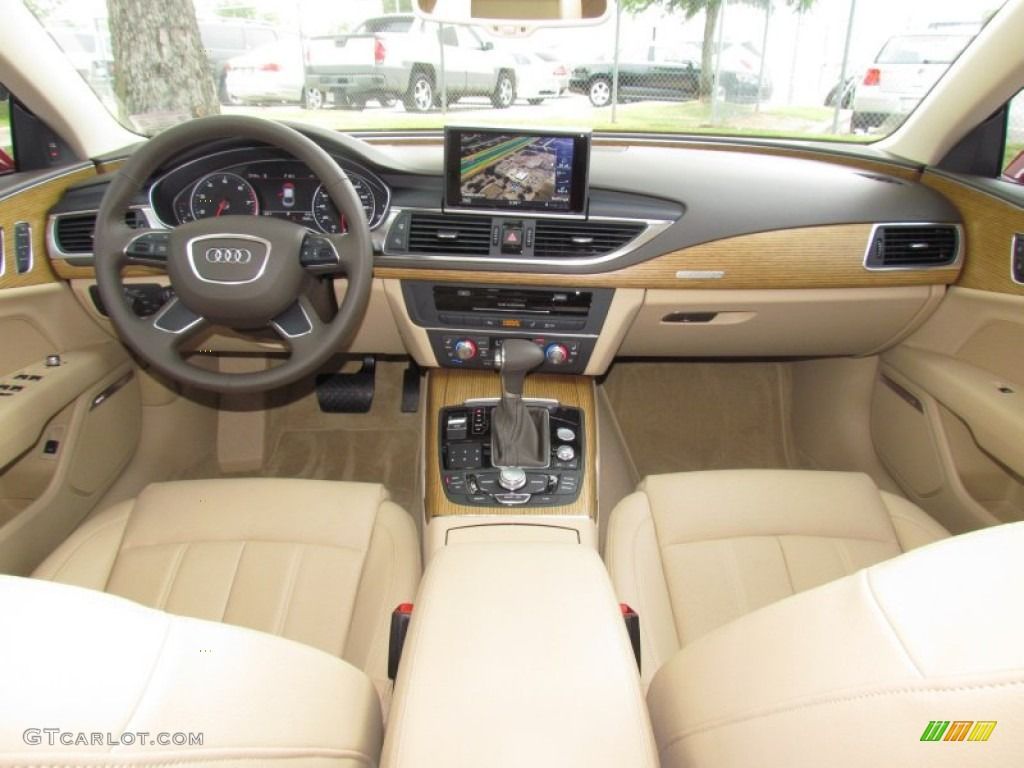 2012 garnet red pearl effect audi a7 3 0t quattro premium 64664138 photo 16. Black Bedroom Furniture Sets. Home Design Ideas