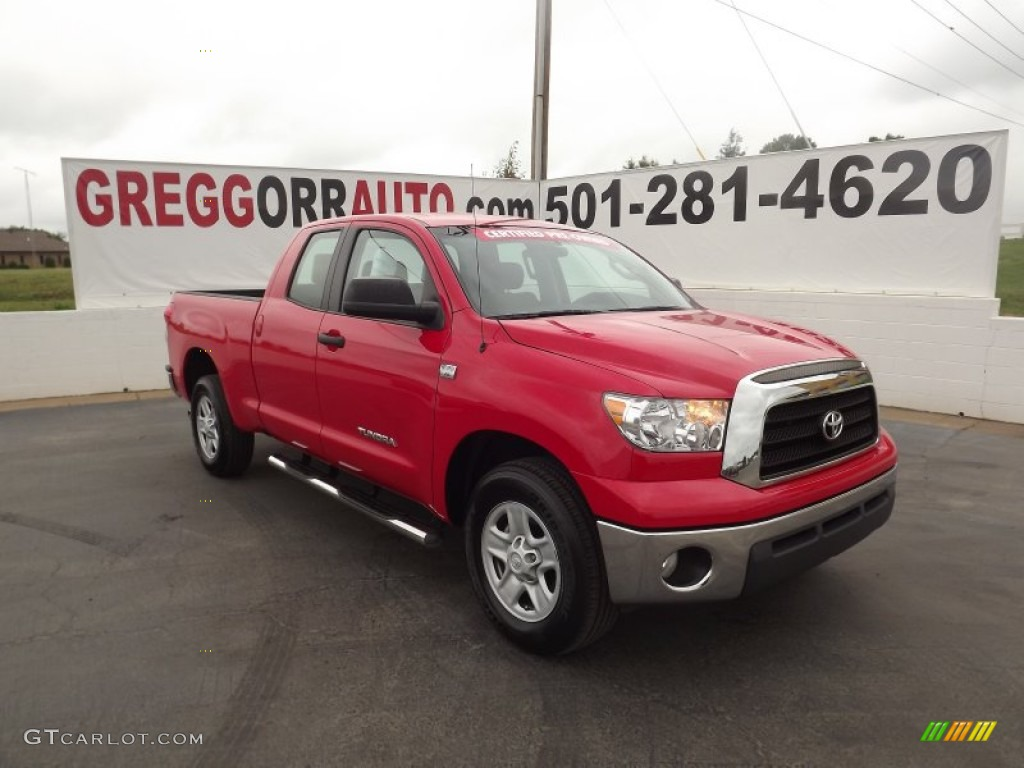 2009 Tundra Double Cab - Radiant Red / Graphite Gray photo #1