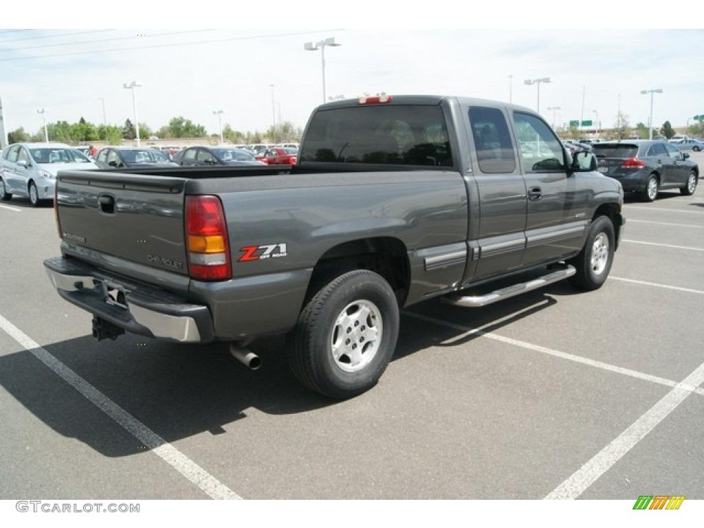 2002 Silverado 1500 LS Extended Cab 4x4 - Medium Charcoal Gray Metallic / Graphite Gray photo #2