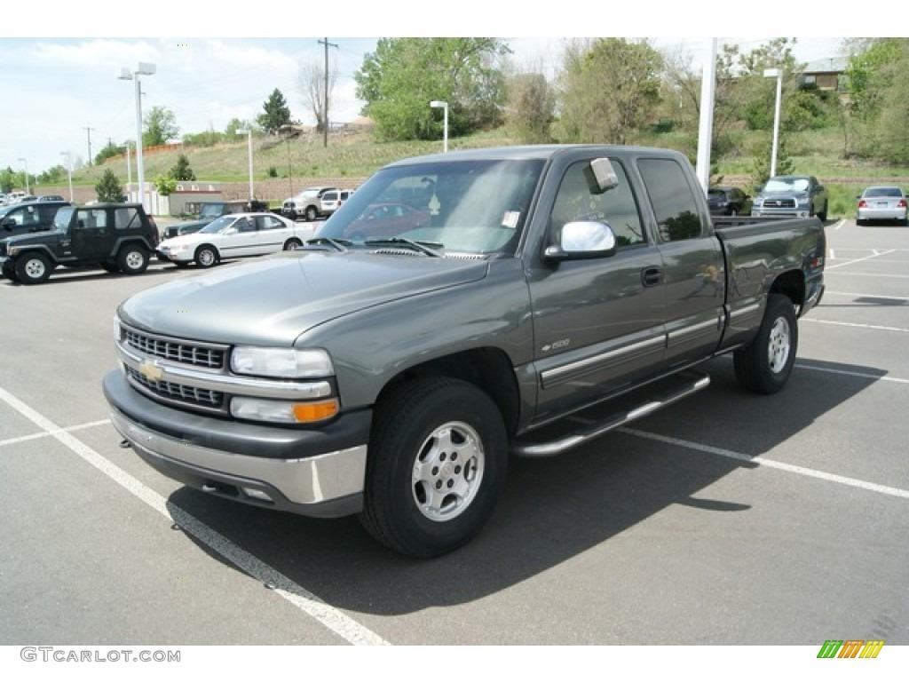 2002 Silverado 1500 LS Extended Cab 4x4 - Medium Charcoal Gray Metallic / Graphite Gray photo #4