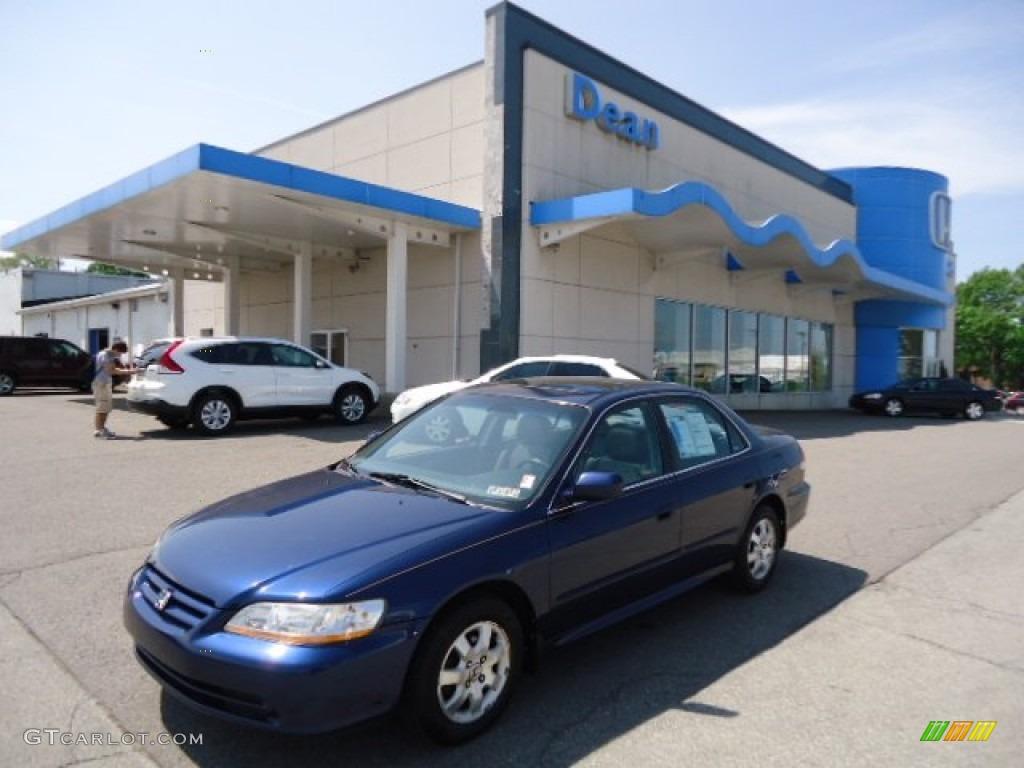 2002 Accord EX Sedan - Eternal Blue Pearl / Quartz Gray photo #1