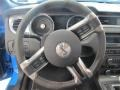 2010 Ford Mustang Charcoal Black/Red Interior Steering Wheel Photo