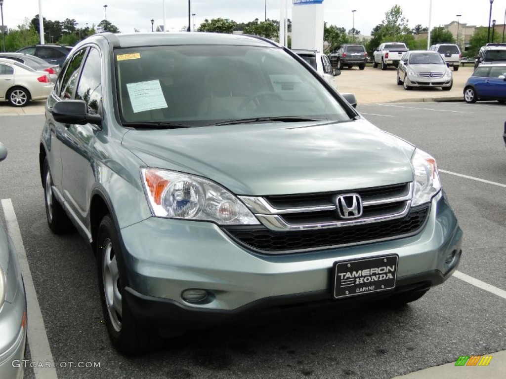 2010 opal sage metallic honda cr v lx 64664517 photo 2 for Gray honda crv