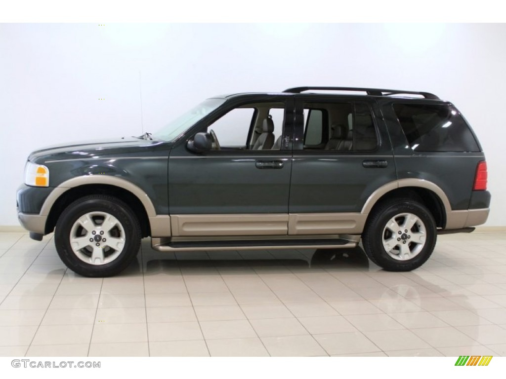 aspen green metallic 2003 ford explorer eddie bauer 4x4 exterior photo 64810535. Black Bedroom Furniture Sets. Home Design Ideas