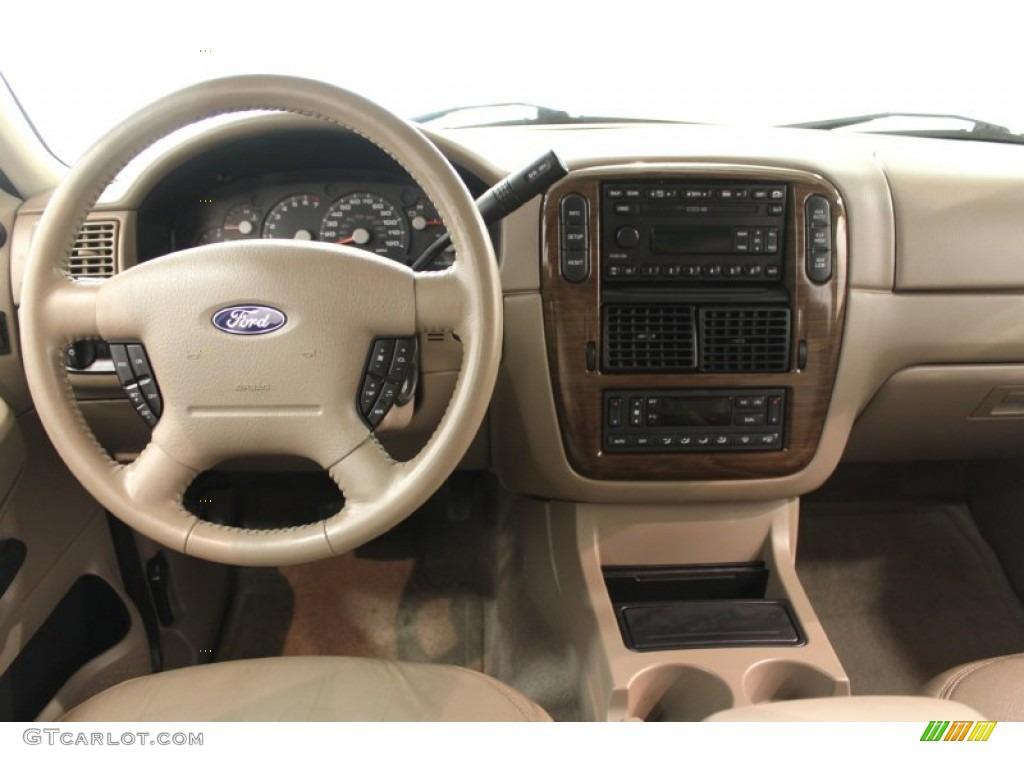 2003 Ford Explorer Ed Bauer 4x4 Medium Parchment Beige Dashboard Photo 64810589