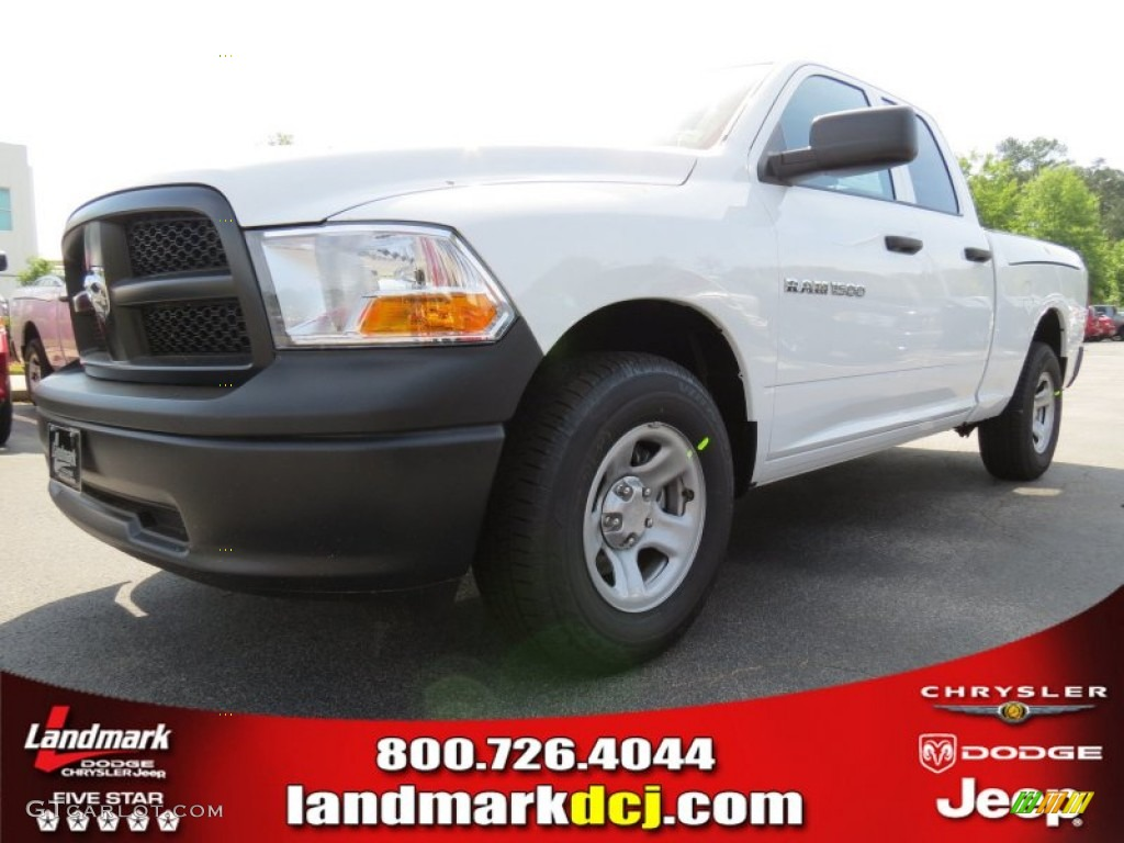 2012 Ram 1500 ST Quad Cab - Bright White / Dark Slate Gray/Medium Graystone photo #1