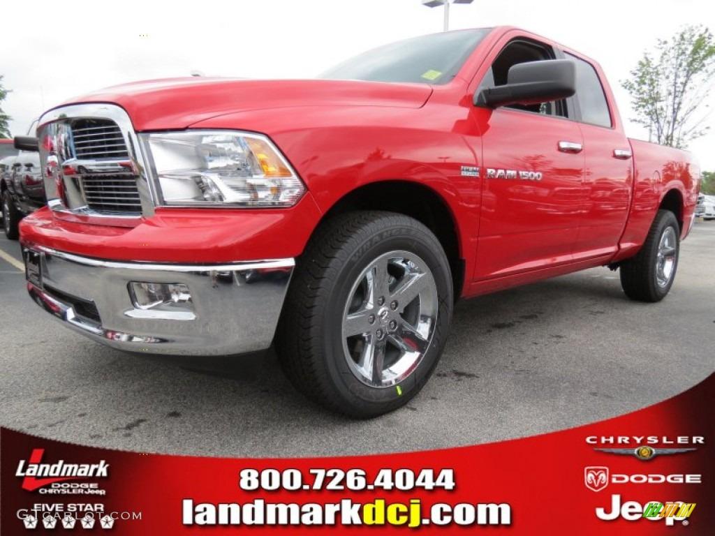2012 Ram 1500 Big Horn Quad Cab - Flame Red / Dark Slate Gray/Medium Graystone photo #1