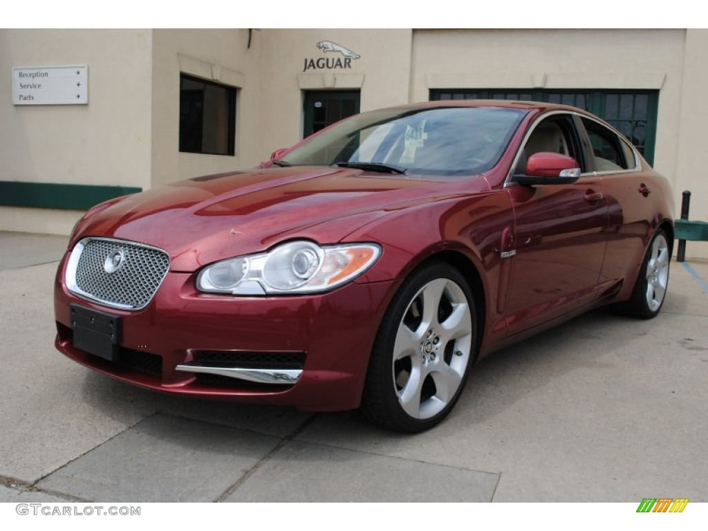 2009 radiance red metallic jaguar xf supercharged 64821377 car color galleries. Black Bedroom Furniture Sets. Home Design Ideas