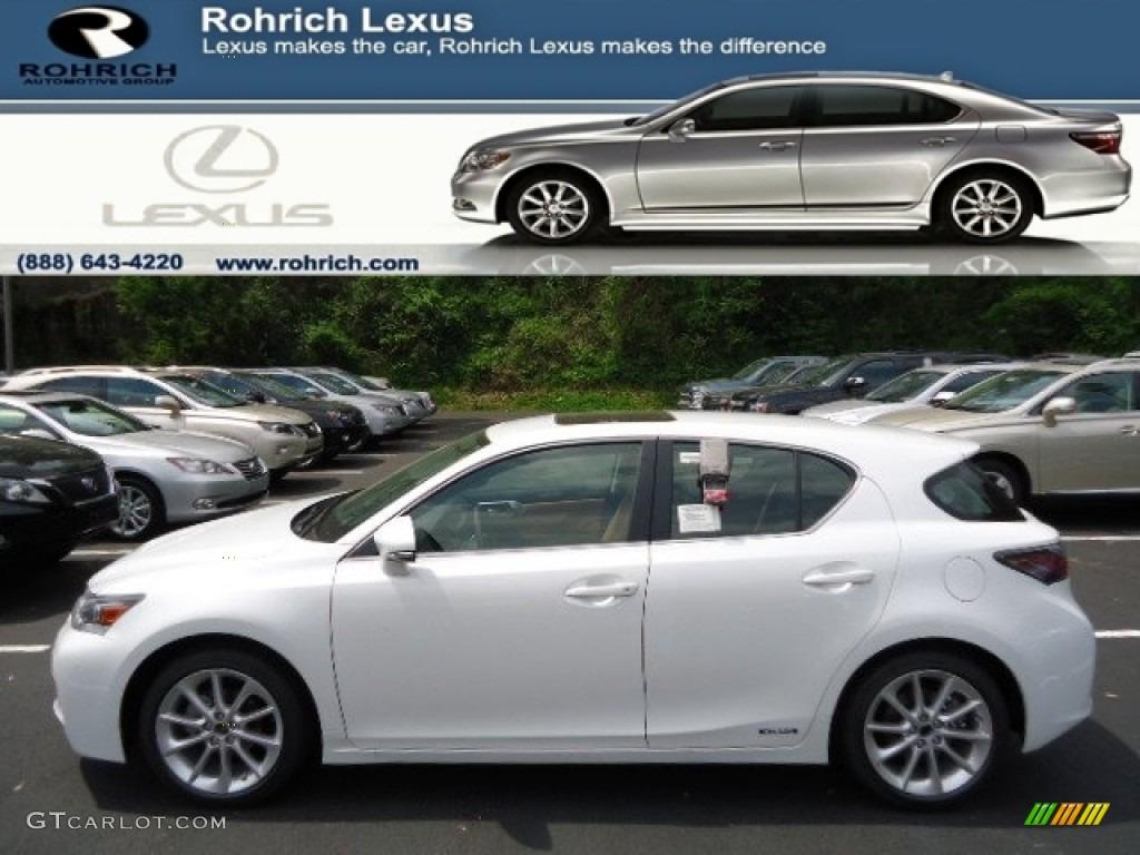 2012 starfire white pearl lexus ct 200h hybrid premium
