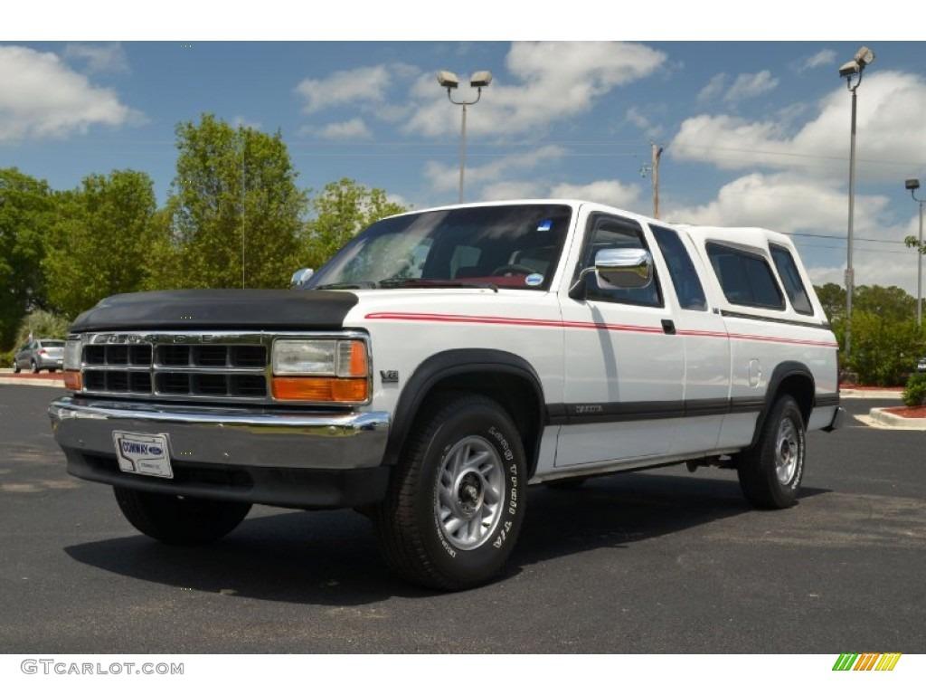 1992 Bright White Dodge Dakota Le Extended Cab 64870197