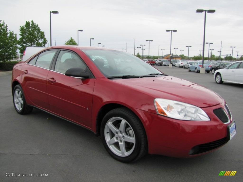 2007 Performance Red Metallic Pontiac G6 V6 Sedan