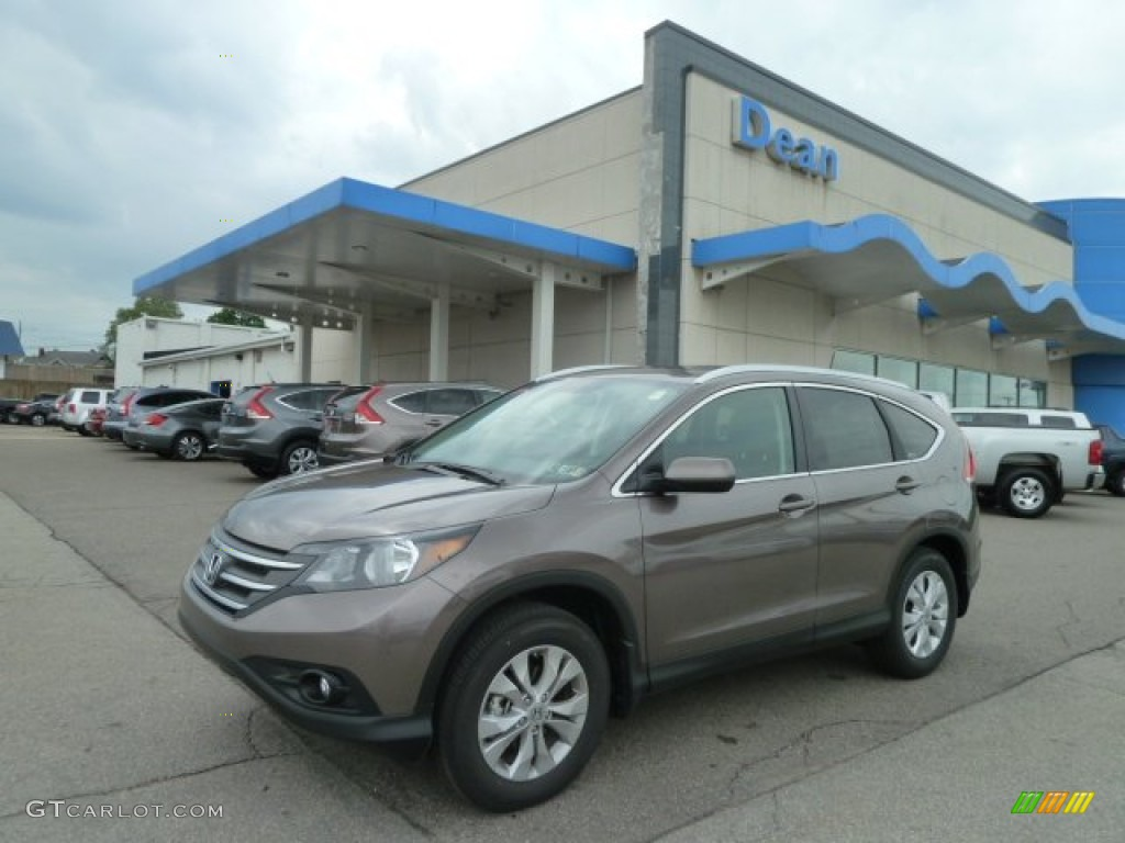 2012 CR-V EX-L 4WD - Urban Titanium Metallic / Black photo #1