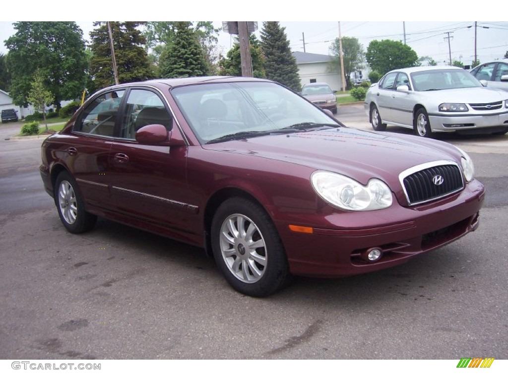 2002 Ruby Red Hyundai Sonata Lx V6 64925269 Gtcarlot Com