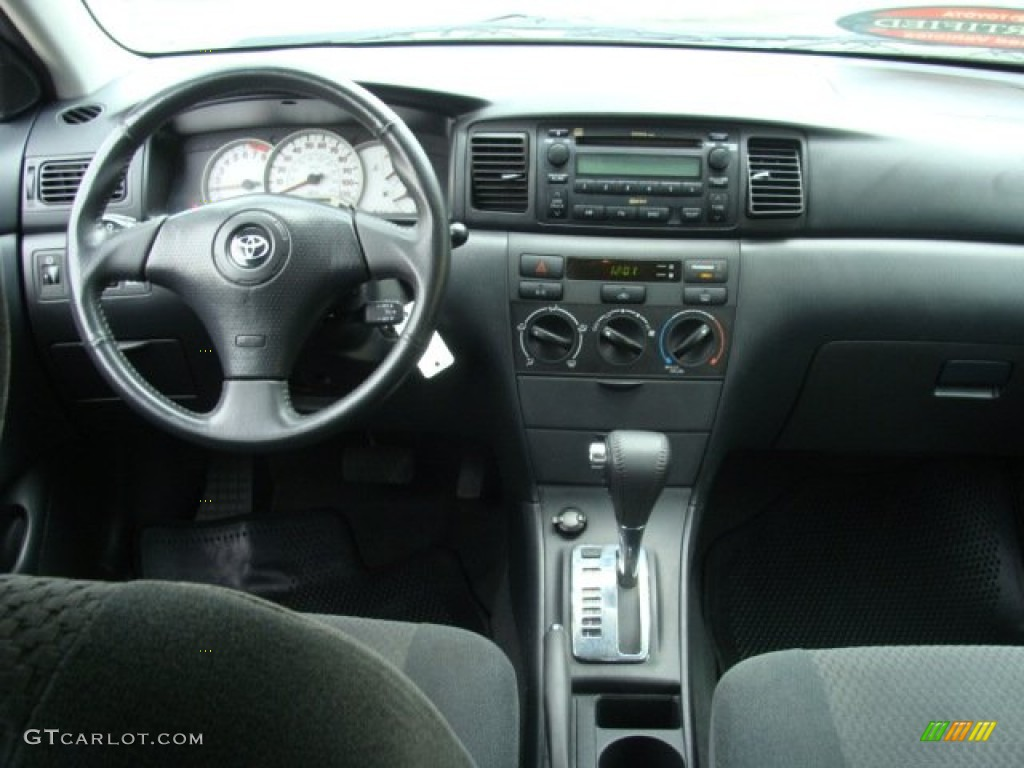 2007 Toyota Corolla S Dark Charcoal Dashboard Photo 64929229
