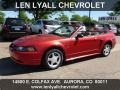 2000 Laser Red Metallic Ford Mustang GT Convertible  photo #1