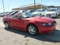 2000 Laser Red Metallic Ford Mustang GT Convertible  photo #2