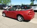 2000 Laser Red Metallic Ford Mustang GT Convertible  photo #6