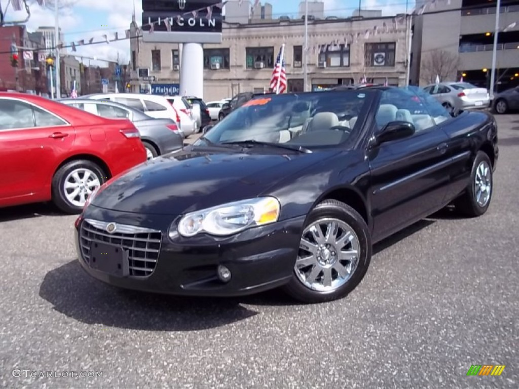 Midnight Blue Pearl Chrysler Sebring Limited Convertible