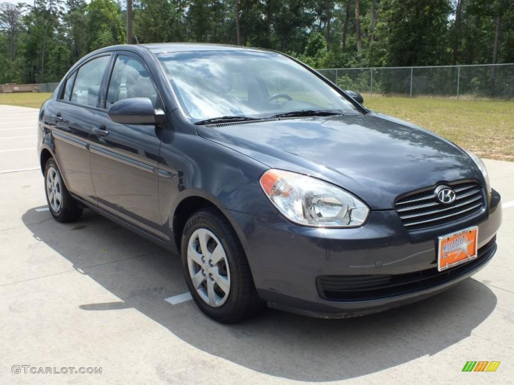 2008 Charcoal Gray Hyundai Accent Gls Sedan 64925180 Gtcarlot Com Car Color Galleries