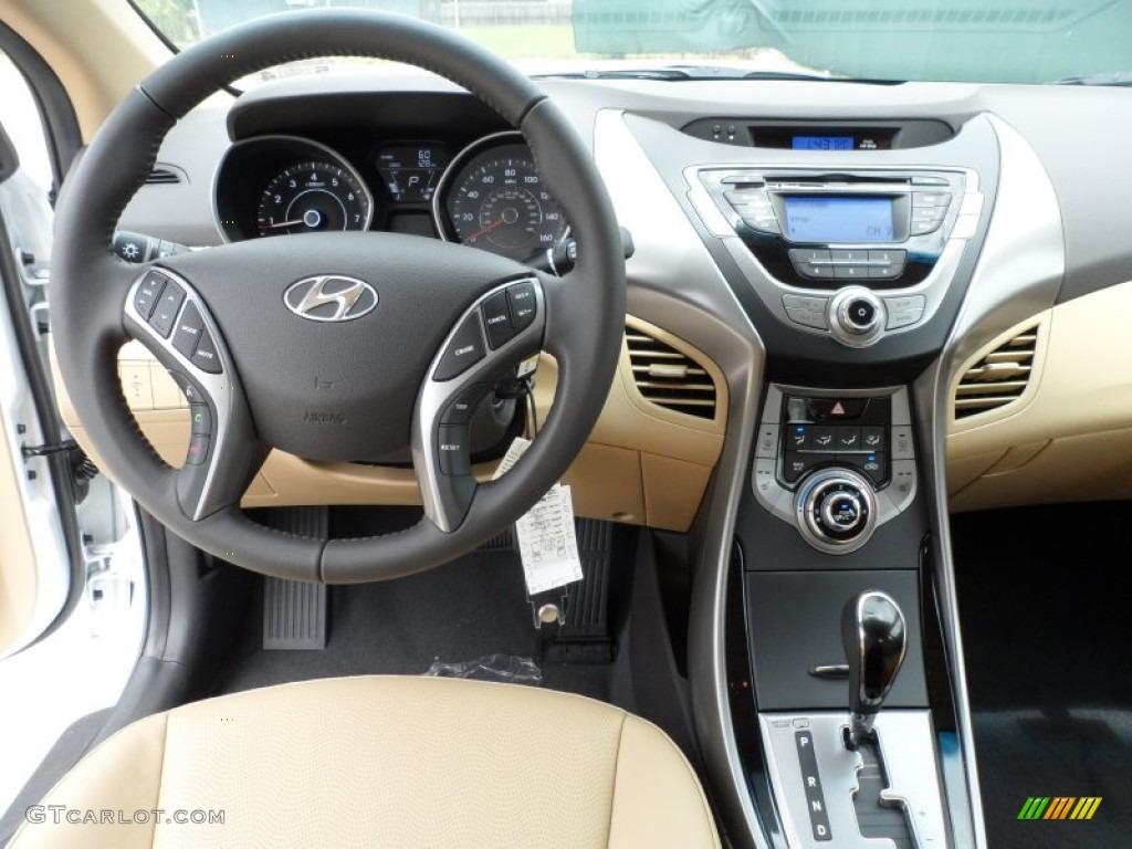 2013 Shimmering White Hyundai Elantra Limited 64924764