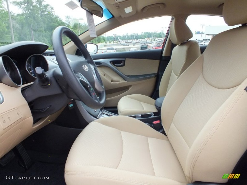 Beige Interior 2013 Hyundai Elantra Gls Photo 64978486