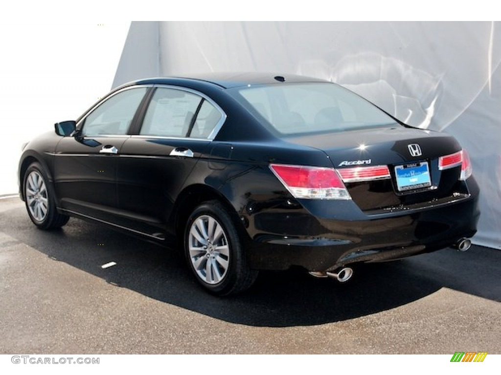 2012 Crystal Black Pearl Honda Accord Ex Sedan 64975444