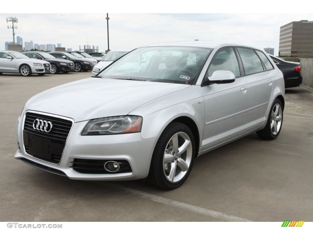 ice silver metallic 2012 audi a3 2 0t exterior photo 64992632. Black Bedroom Furniture Sets. Home Design Ideas