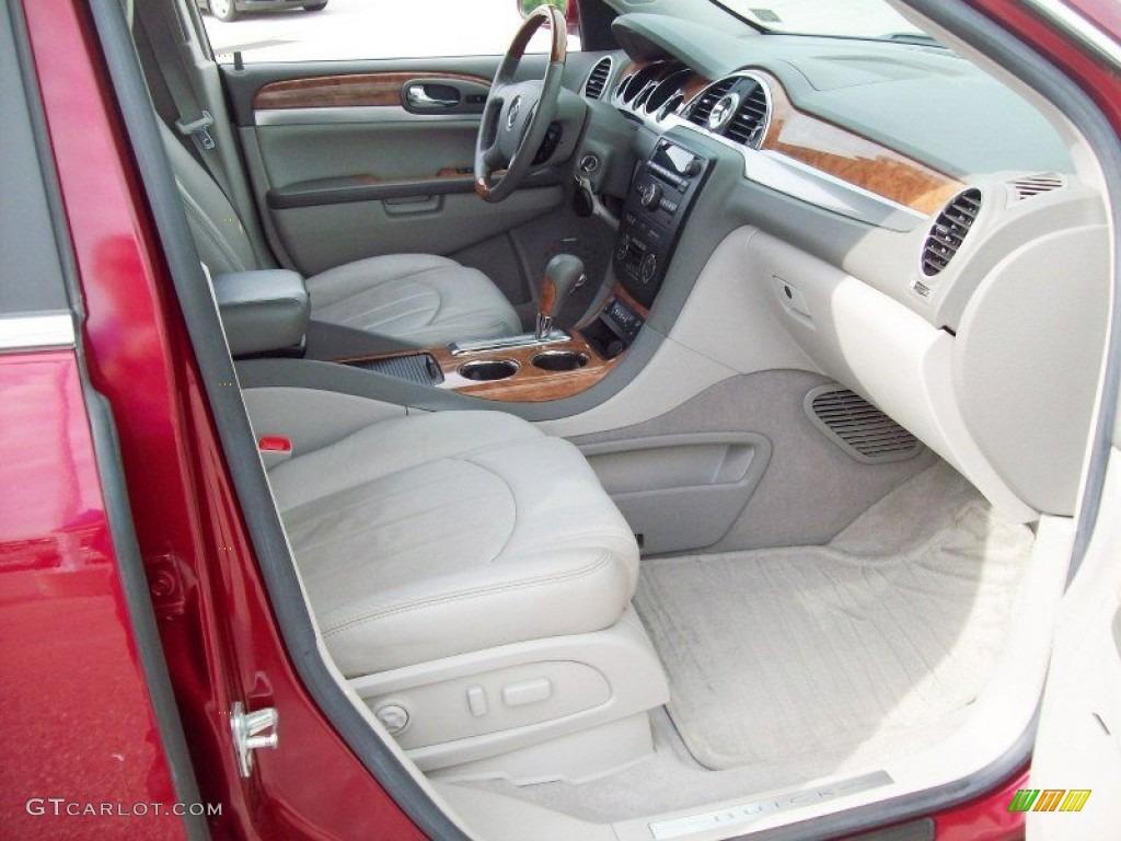 2008 Enclave CXL AWD - Red Jewel / Titanium/Dark Titanium photo #7
