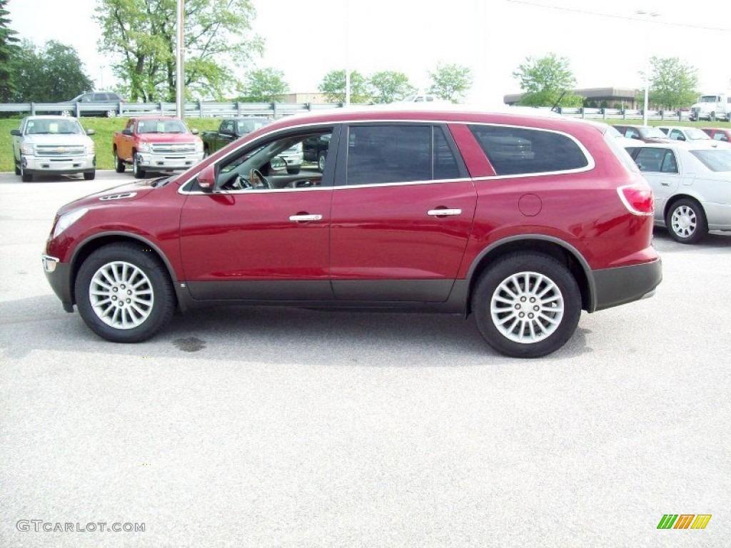 2008 Enclave CXL AWD - Red Jewel / Titanium/Dark Titanium photo #13