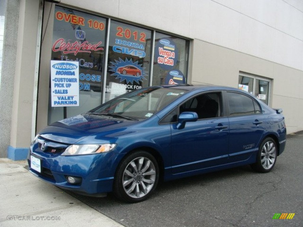 Amazing Dyno Blue Pearl Honda Civic. Honda Civic Si Sedan