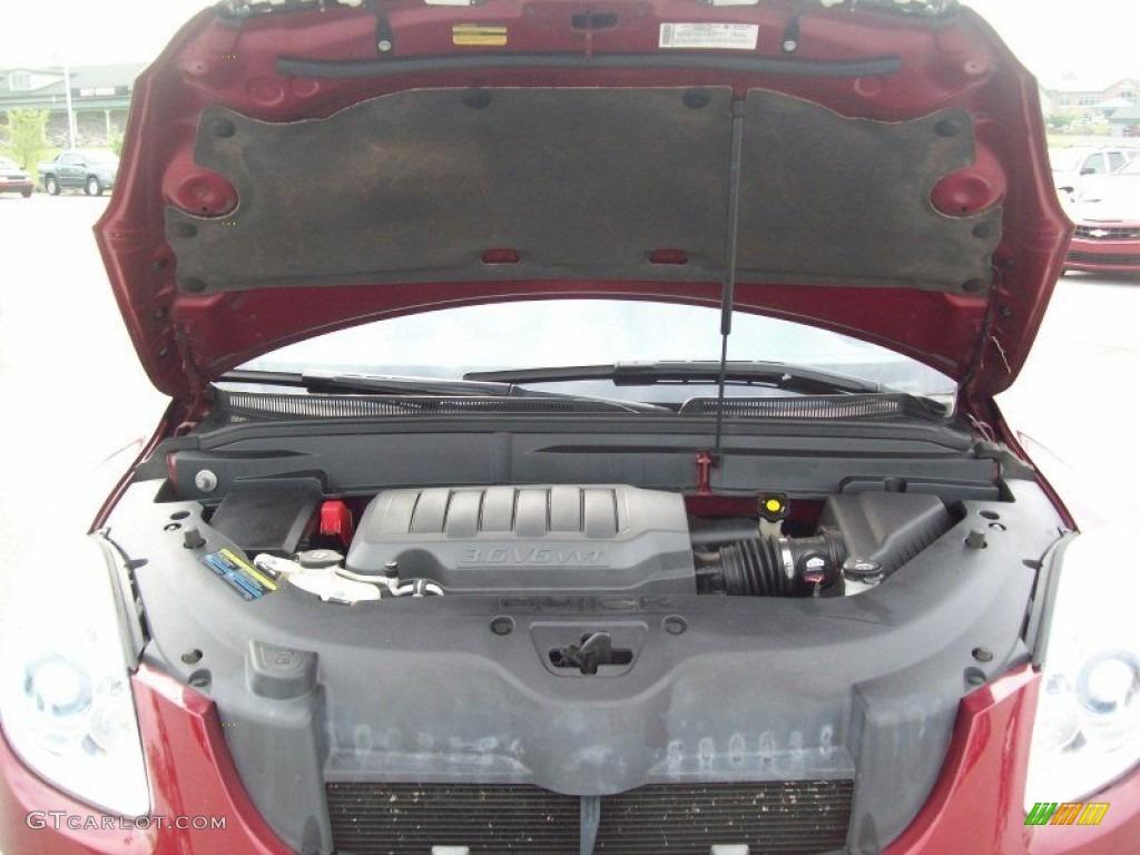 2008 Enclave CXL AWD - Red Jewel / Titanium/Dark Titanium photo #16