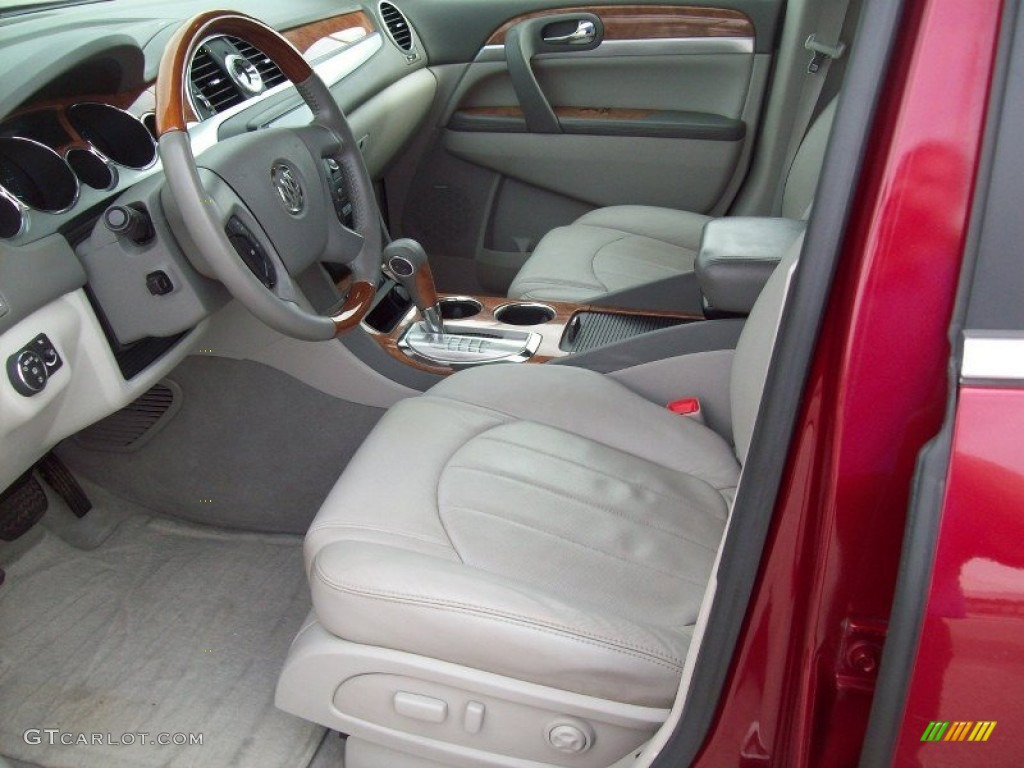 2008 Enclave CXL AWD - Red Jewel / Titanium/Dark Titanium photo #19