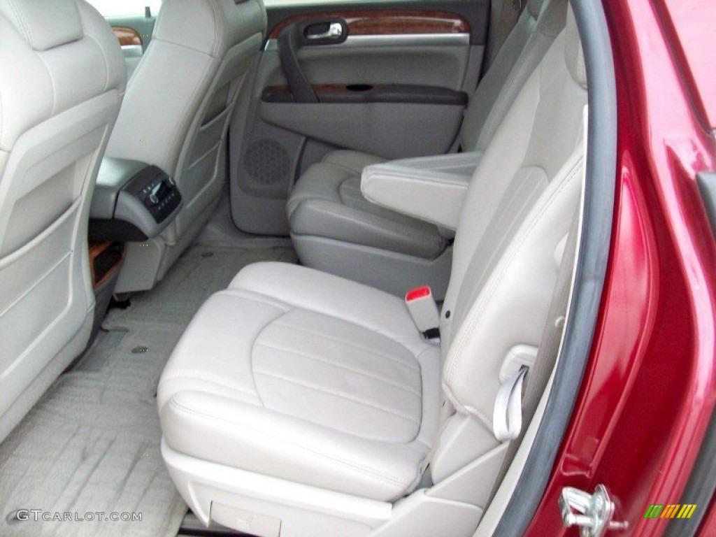 2008 Enclave CXL AWD - Red Jewel / Titanium/Dark Titanium photo #20